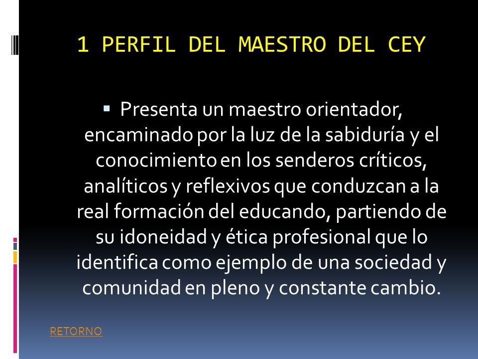 1 PERFIL DEL MAESTRO DEL CEY