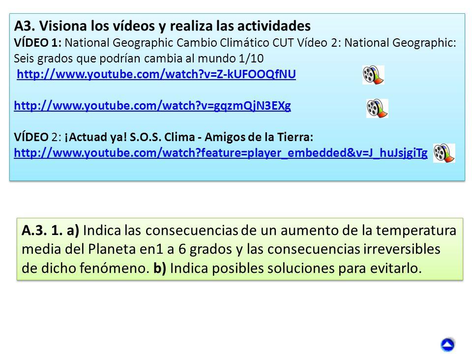 A3. Visiona los vídeos y realiza las actividades