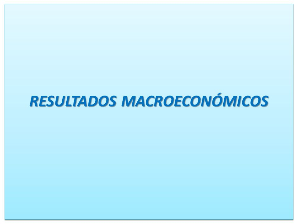 RESULTADOS MACROECONÓMICOS