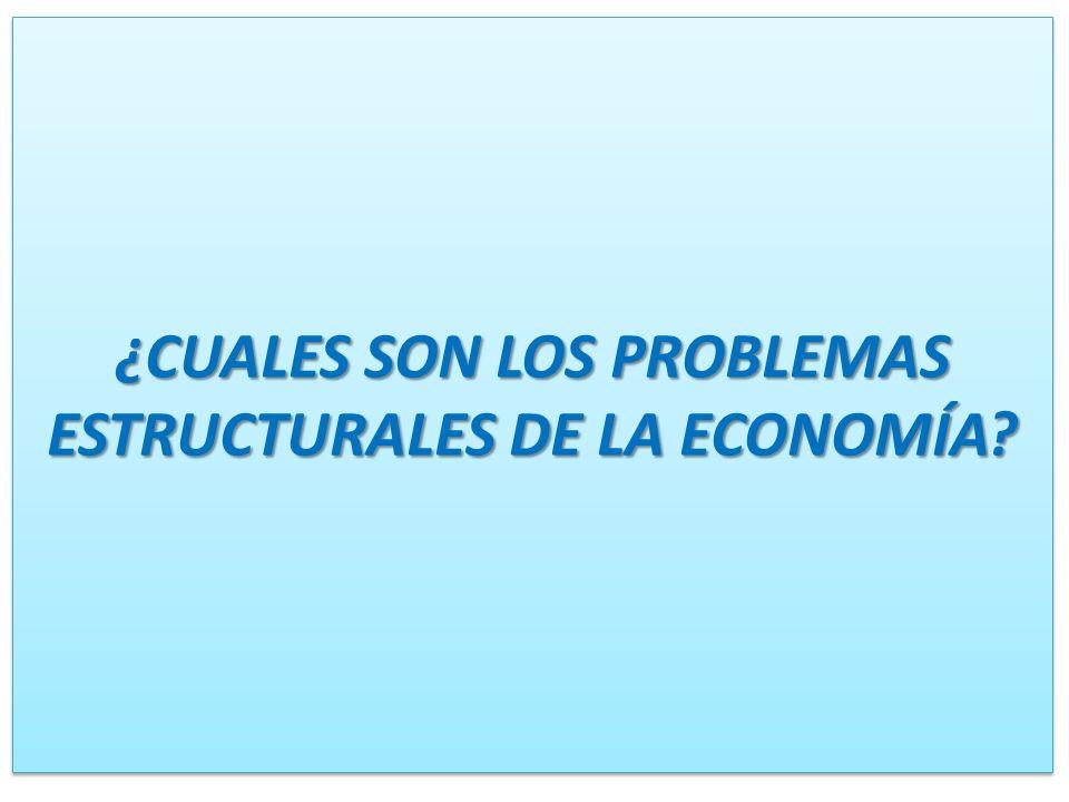¿CUALES SON LOS PROBLEMAS ESTRUCTURALES DE LA ECONOMÍA