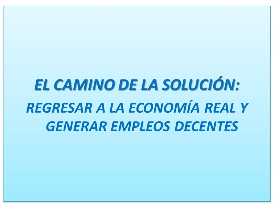 EL CAMINO DE LA SOLUCIÓN: