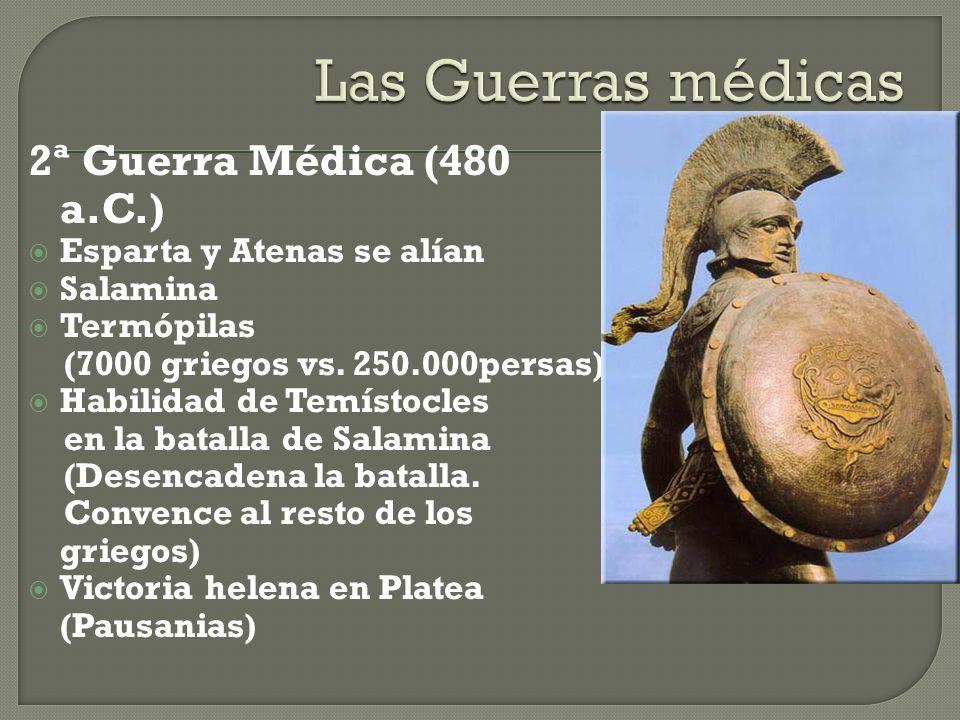 Las Guerras médicas 2ª Guerra Médica (480 a.C.)
