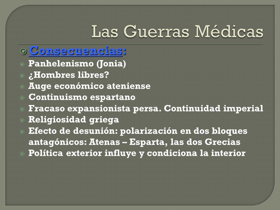 Las Guerras Médicas Consecuencias: Panhelenismo (Jonia)