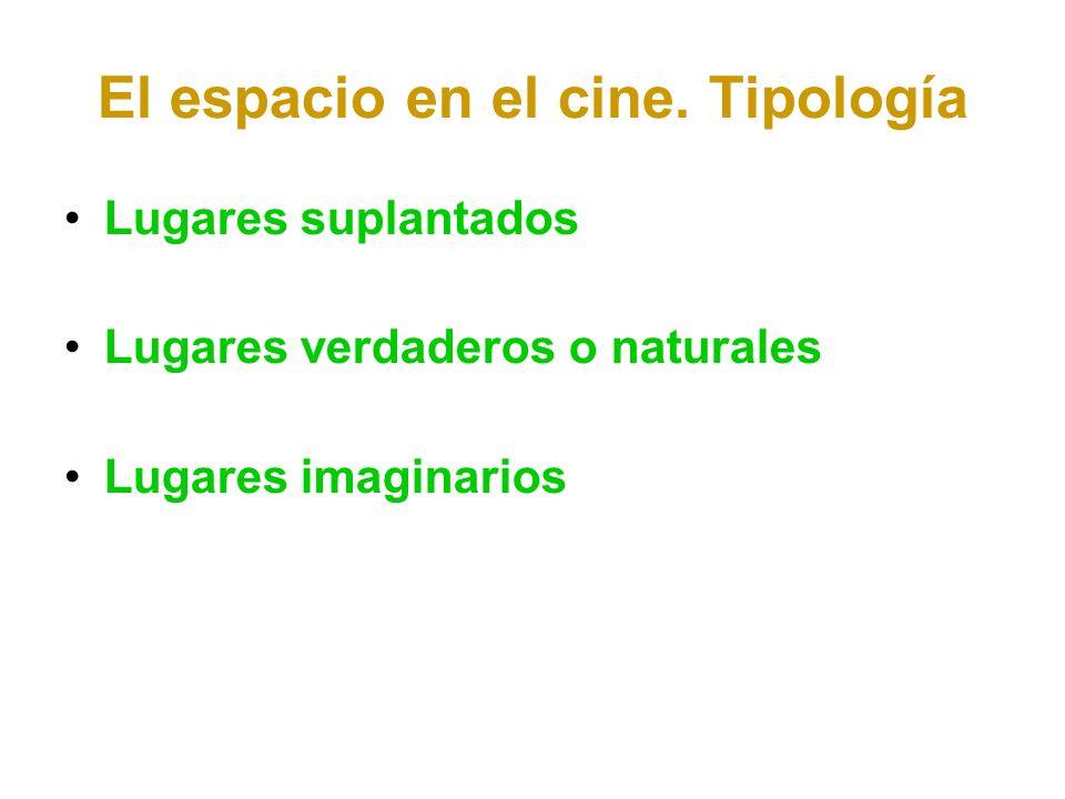 El espacio en el cine. Tipología
