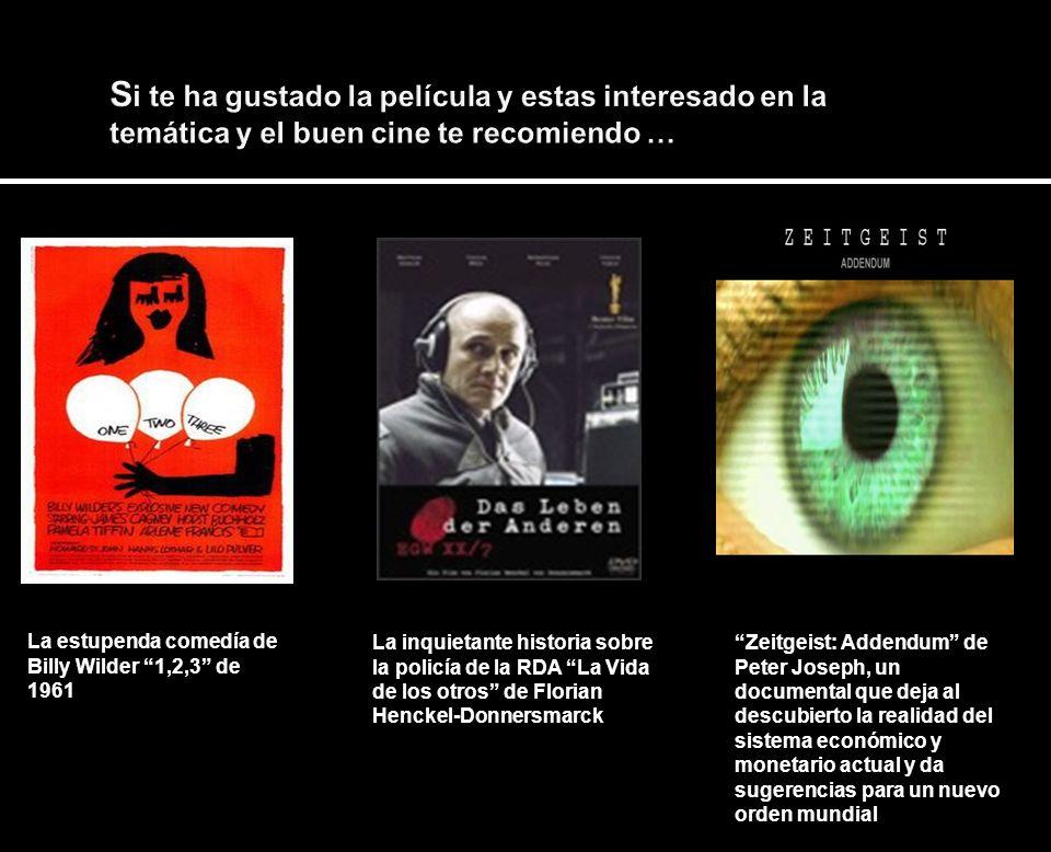 Si te ha gustado la película y estas interesado en la temática y el buen cine te recomiendo …