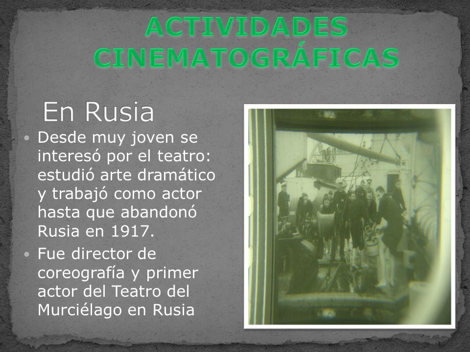 ACTIVIDADES CINEMATOGRÁFICAS
