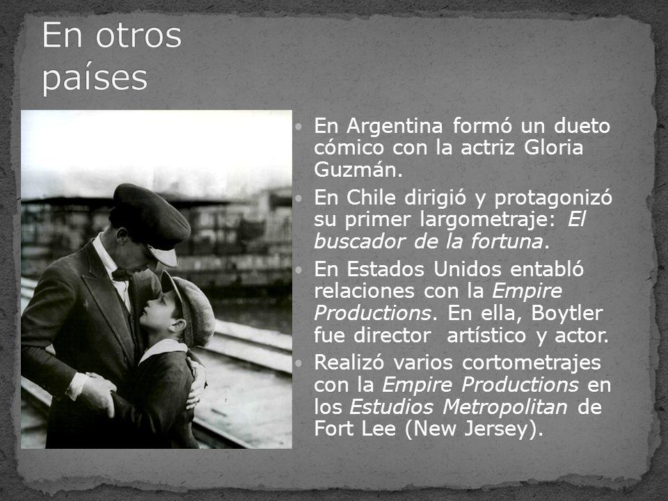 En otros países En Argentina formó un dueto cómico con la actriz Gloria Guzmán.