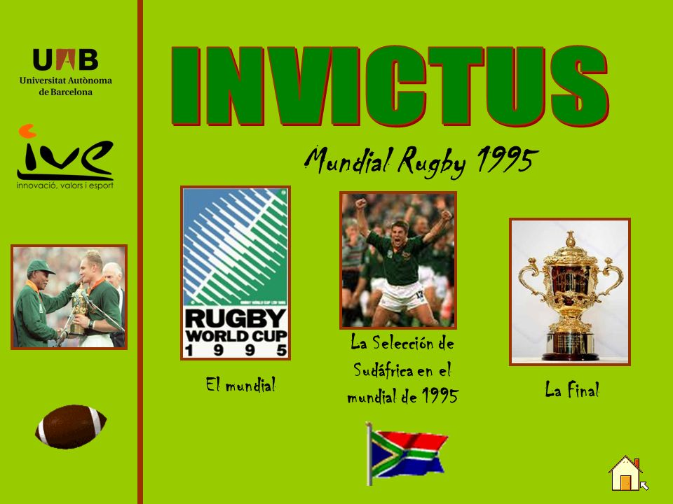 La Selección de Sudáfrica en el mundial de 1995