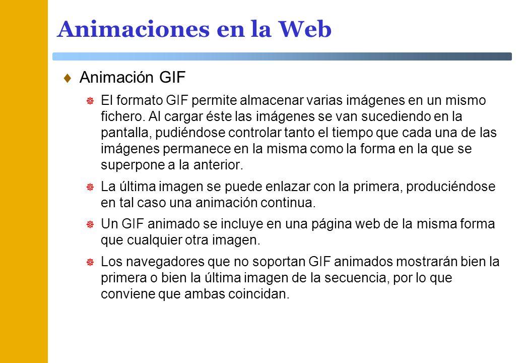 Animaciones en la Web Animación GIF