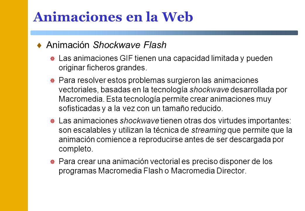 Animaciones en la Web Animación Shockwave Flash