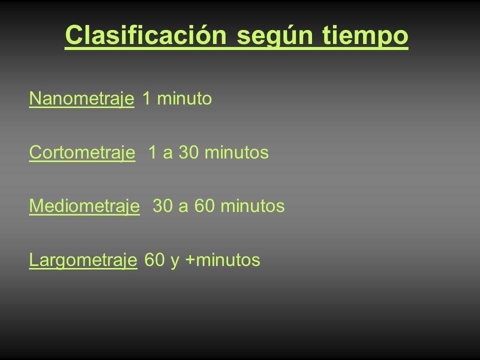Clasificación según tiempo