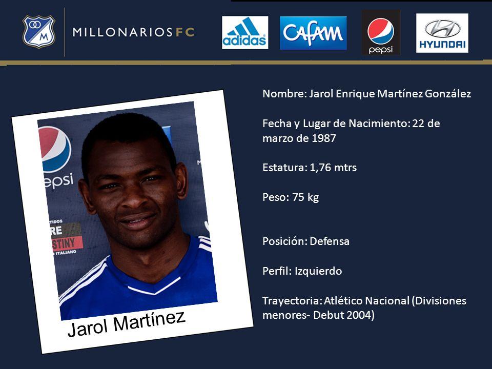 Jarol Martínez Nombre: Jarol Enrique Martínez González