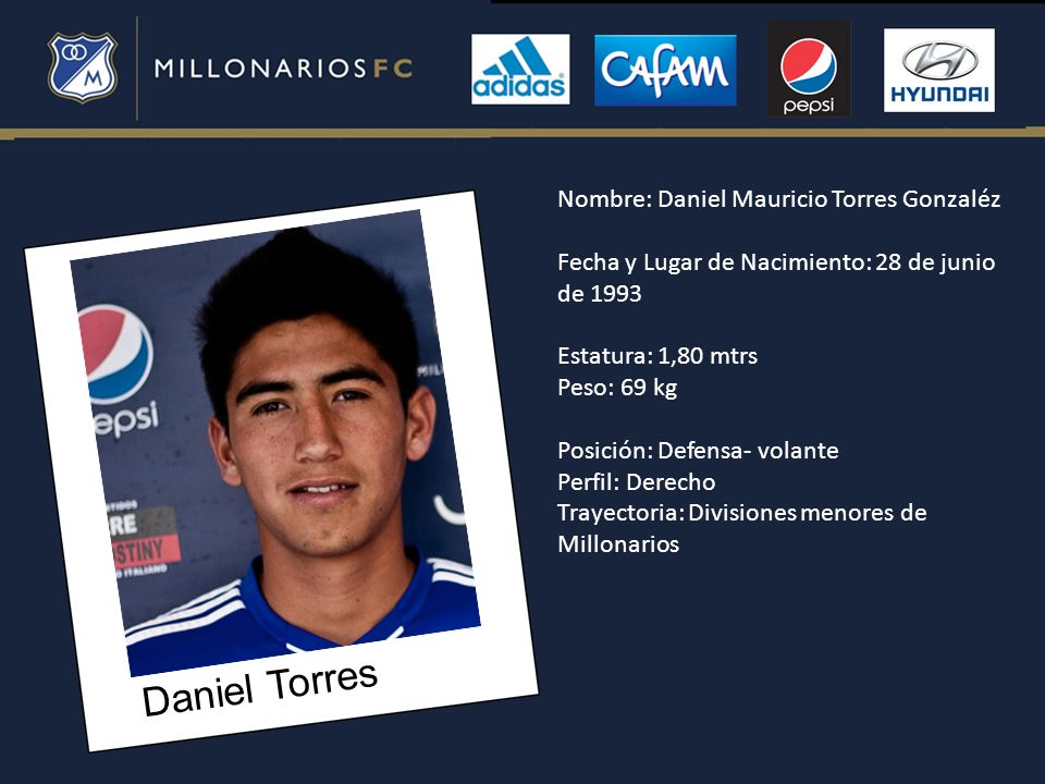 Daniel Torres Nombre: Daniel Mauricio Torres Gonzaléz