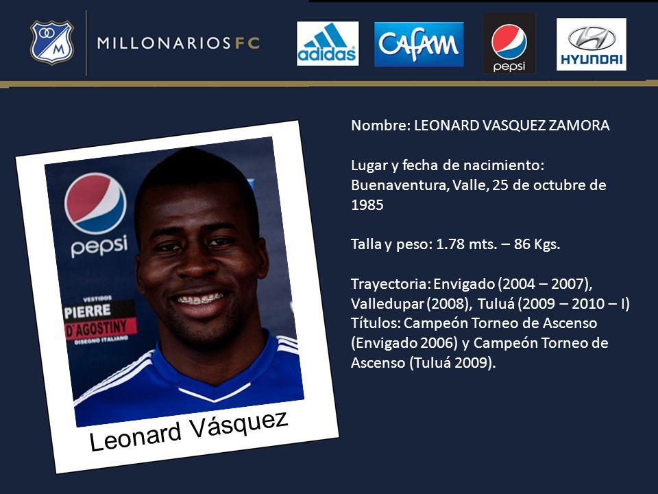 Leonard Vásquez Nombre: LEONARD VASQUEZ ZAMORA