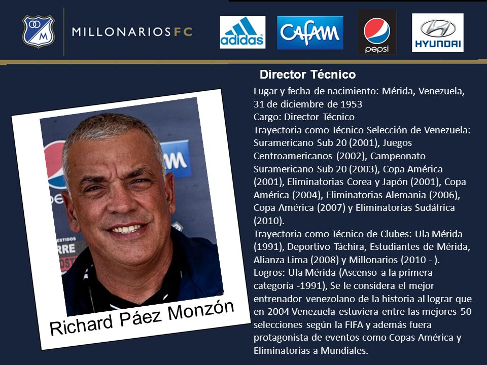 Richard Páez Monzón Director Técnico