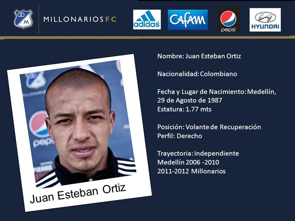 Juan Esteban Ortiz Nombre: Juan Esteban Ortiz Nacionalidad: Colombiano