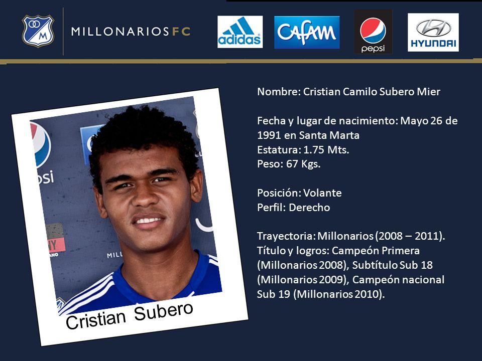 Cristian Subero Nombre: Cristian Camilo Subero Mier