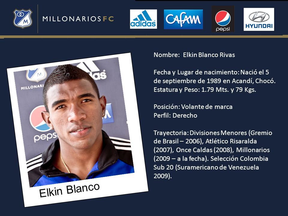 Elkin Blanco Nombre: Elkin Blanco Rivas