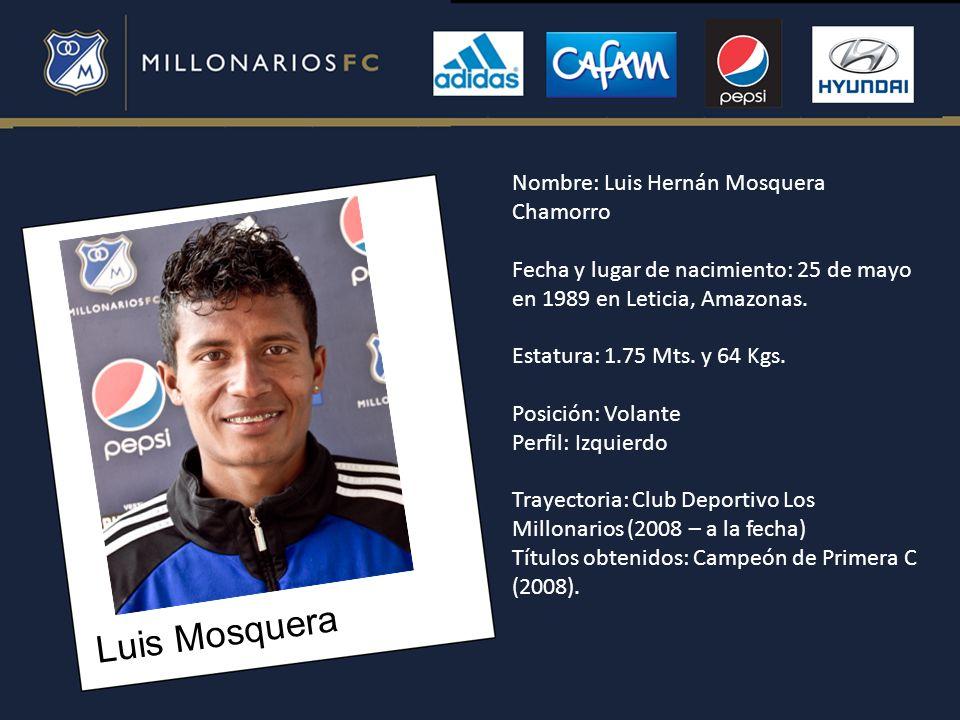 Luis Mosquera Nombre: Luis Hernán Mosquera Chamorro