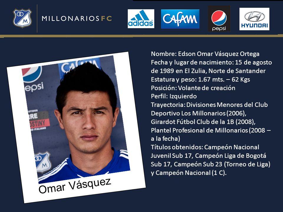 Omar Vásquez Nombre: Edson Omar Vásquez Ortega