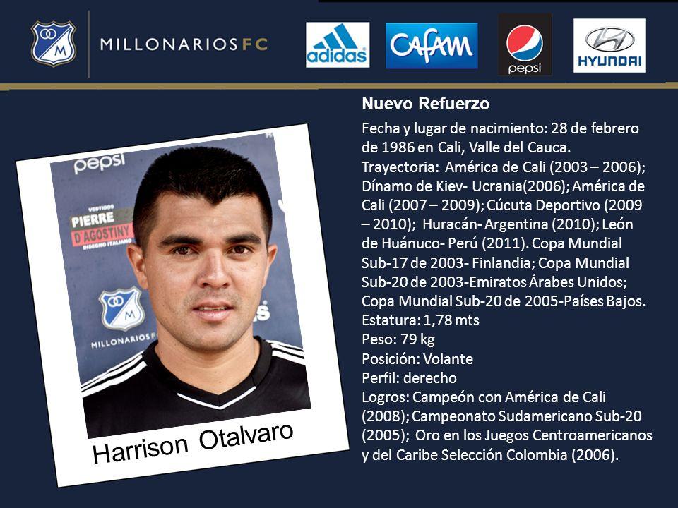 Harrison Otalvaro Nuevo Refuerzo