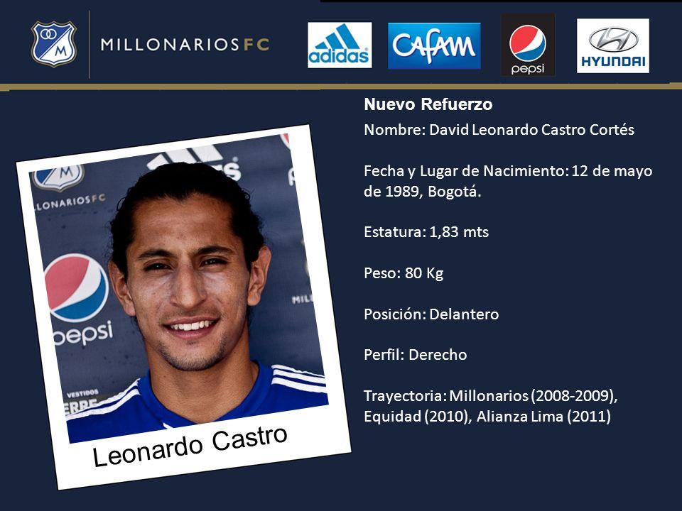 Leonardo Castro Nuevo Refuerzo Nombre: David Leonardo Castro Cortés