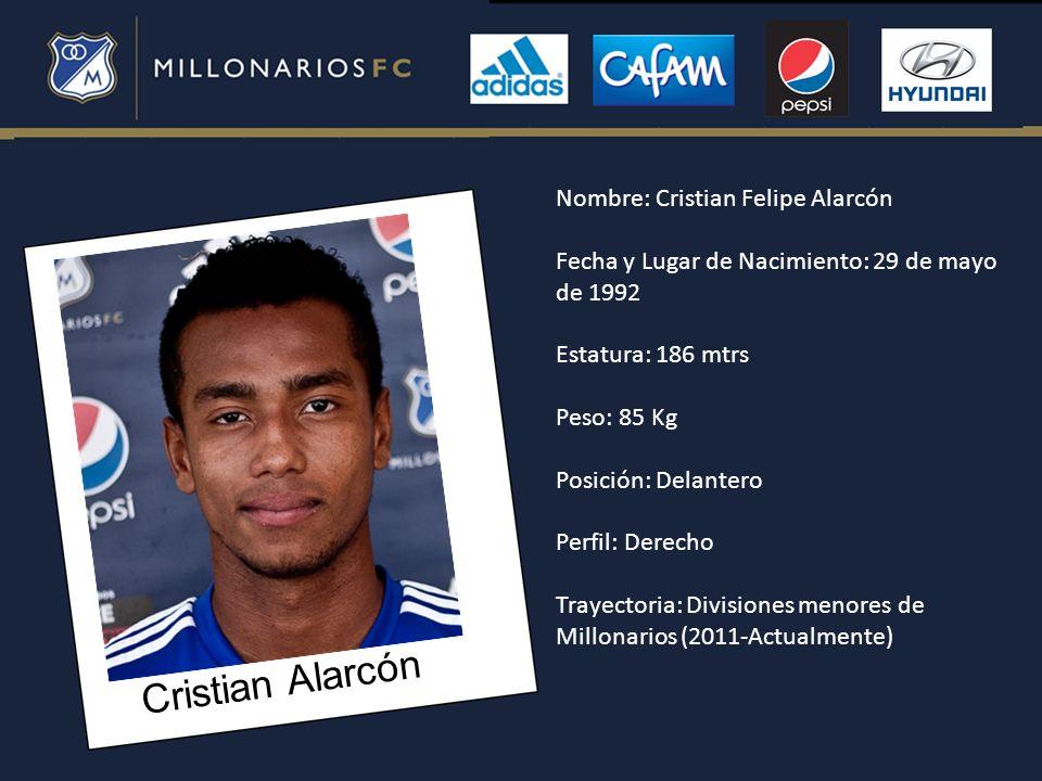 Cristian Alarcón Nombre: Cristian Felipe Alarcón