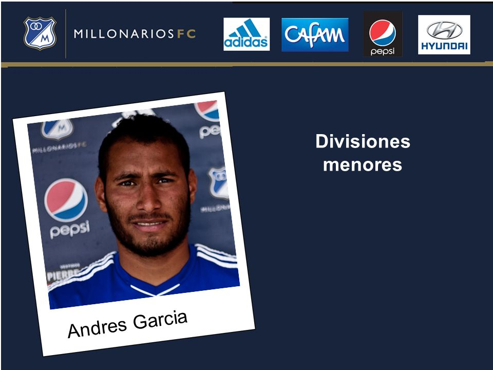 Divisiones menores Andres Garcia