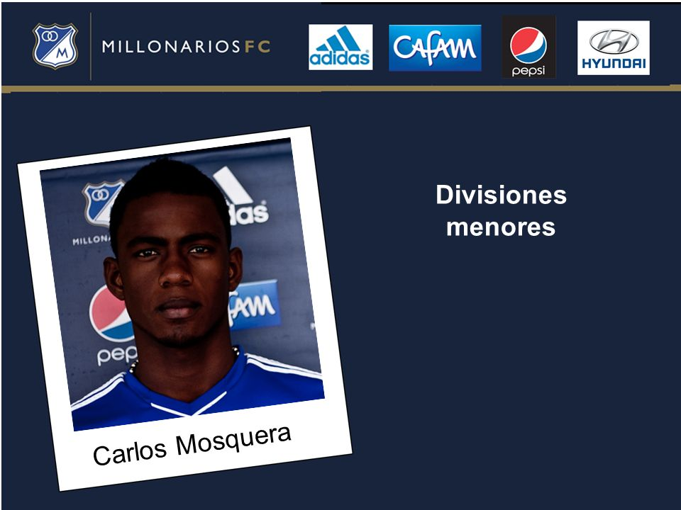 Divisiones menores Carlos Mosquera