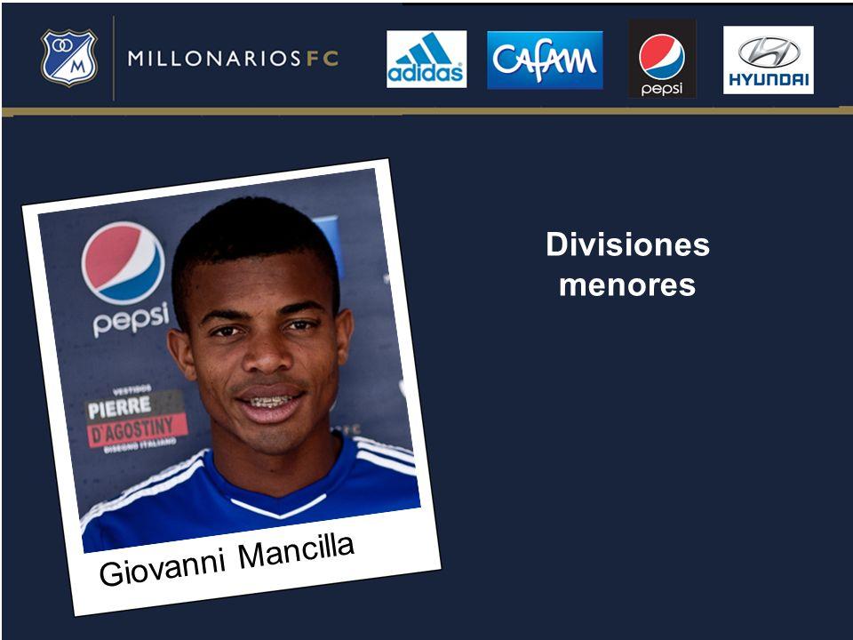 Divisiones menores Giovanni Mancilla