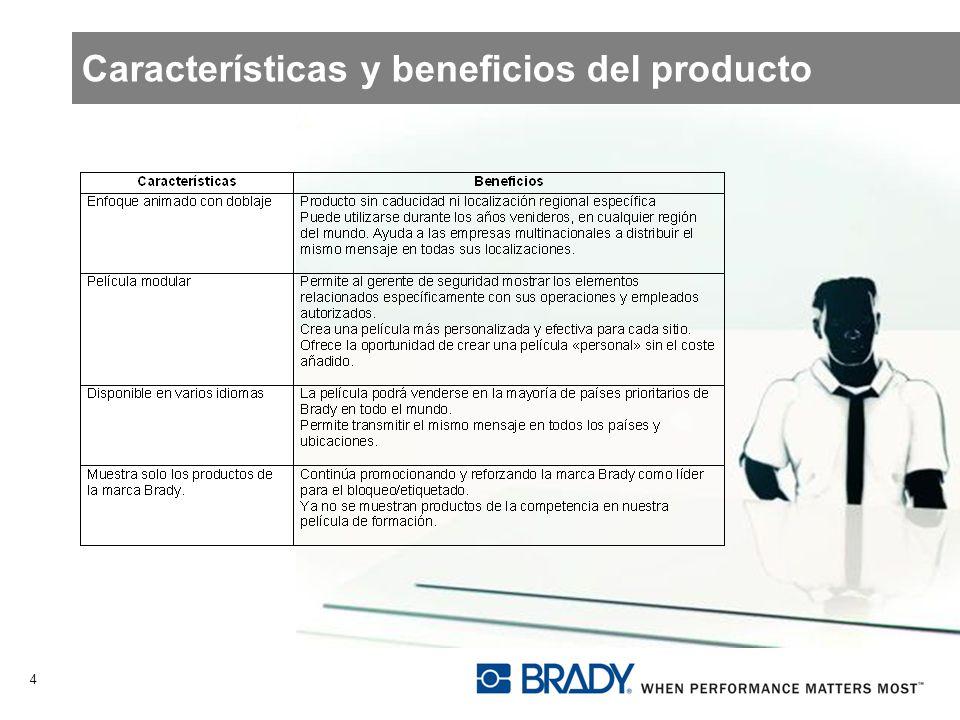 Características y beneficios del producto