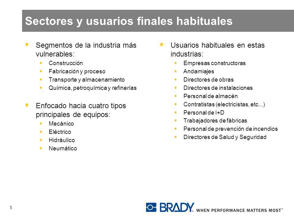Sectores y usuarios finales habituales