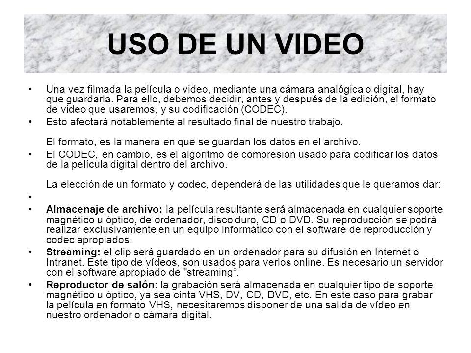 USO DE UN VIDEO