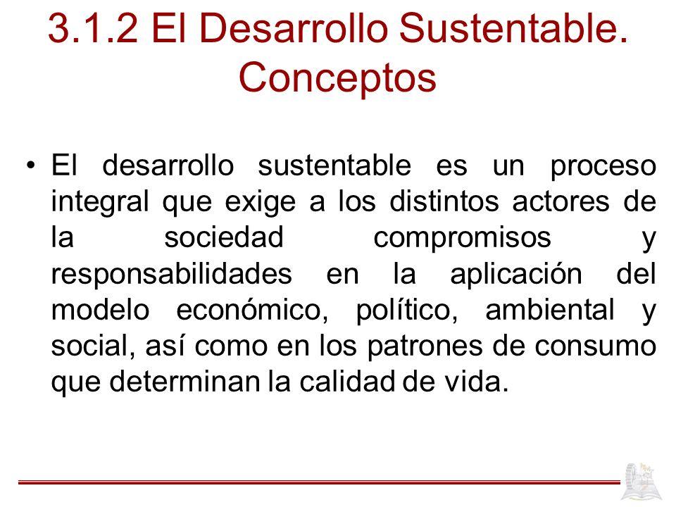 3.1.2 El Desarrollo Sustentable. Conceptos