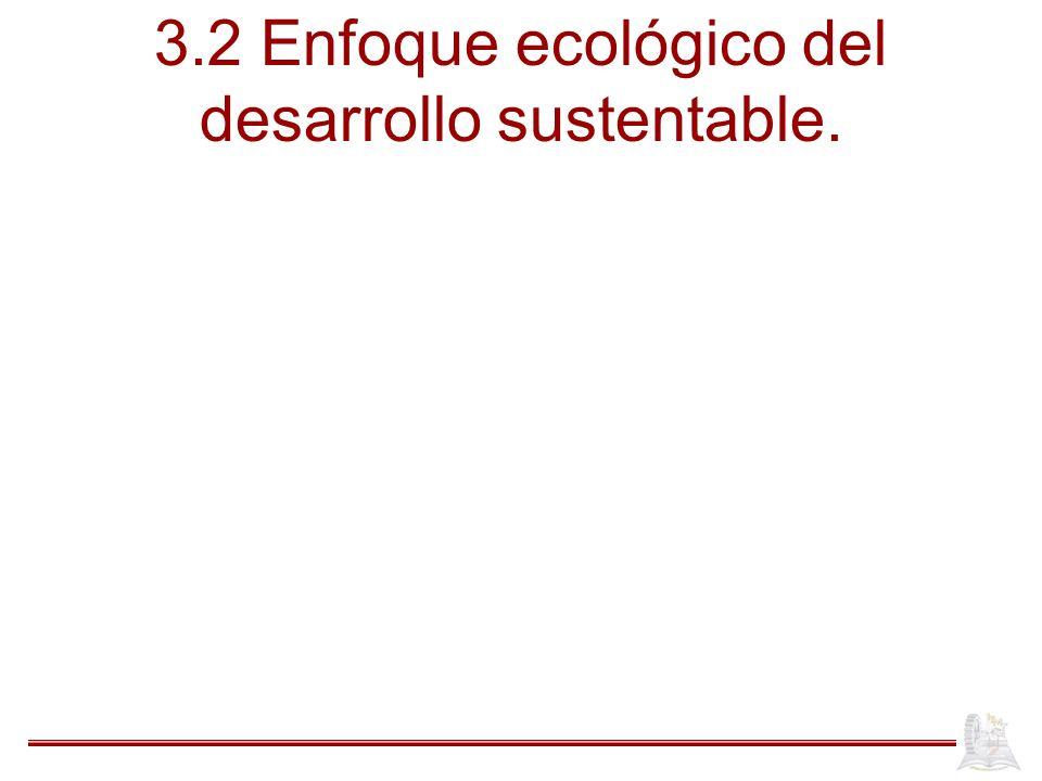 3.2 Enfoque ecológico del desarrollo sustentable.
