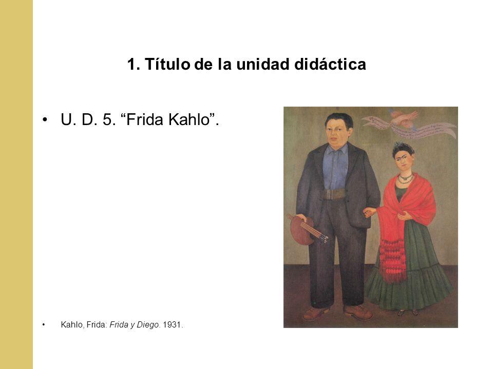 1. Título de la unidad didáctica