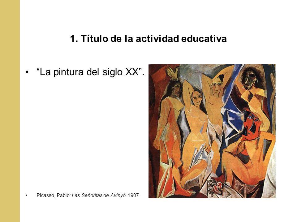 1. Título de la actividad educativa