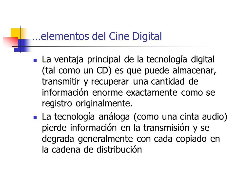 …elementos del Cine Digital