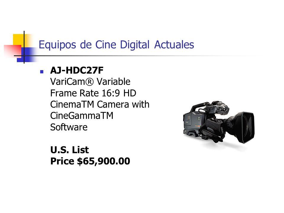 Equipos de Cine Digital Actuales