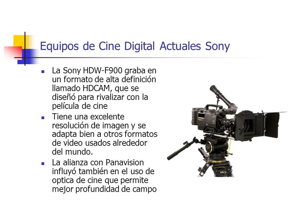 Equipos de Cine Digital Actuales Sony