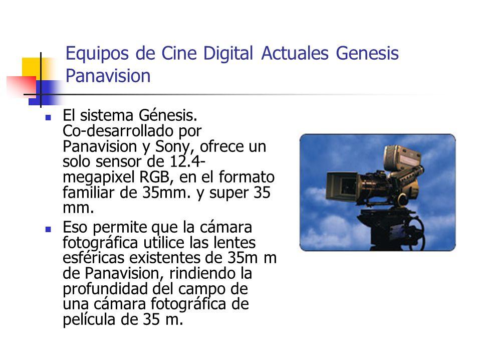 Equipos de Cine Digital Actuales Genesis Panavision