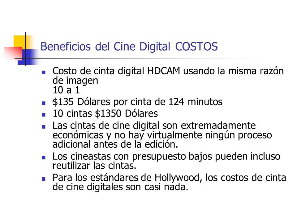 Beneficios del Cine Digital COSTOS
