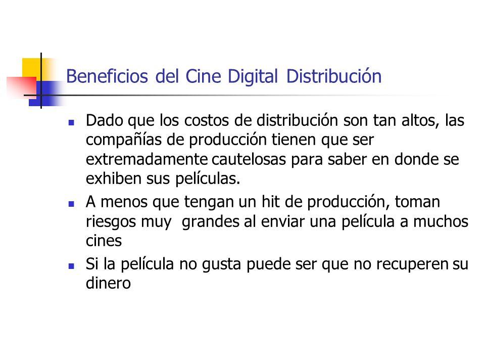 Beneficios del Cine Digital Distribución