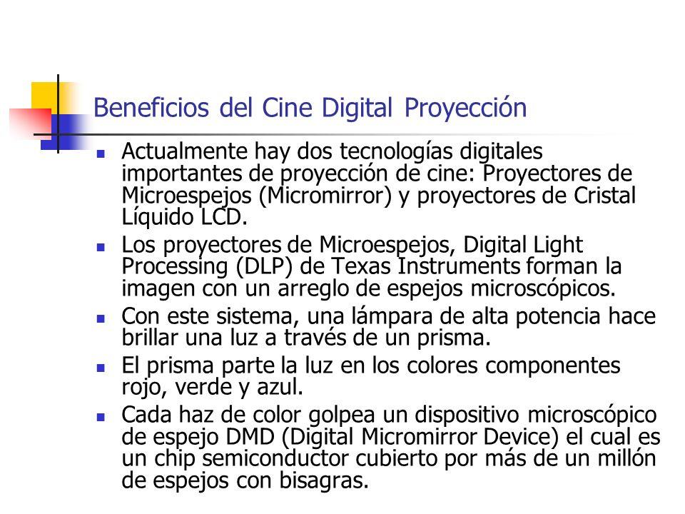Beneficios del Cine Digital Proyección