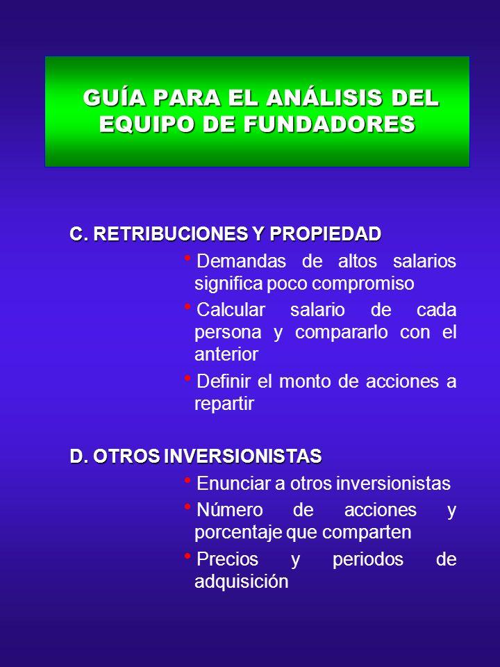 GUÍA PARA EL ANÁLISIS DEL EQUIPO DE FUNDADORES