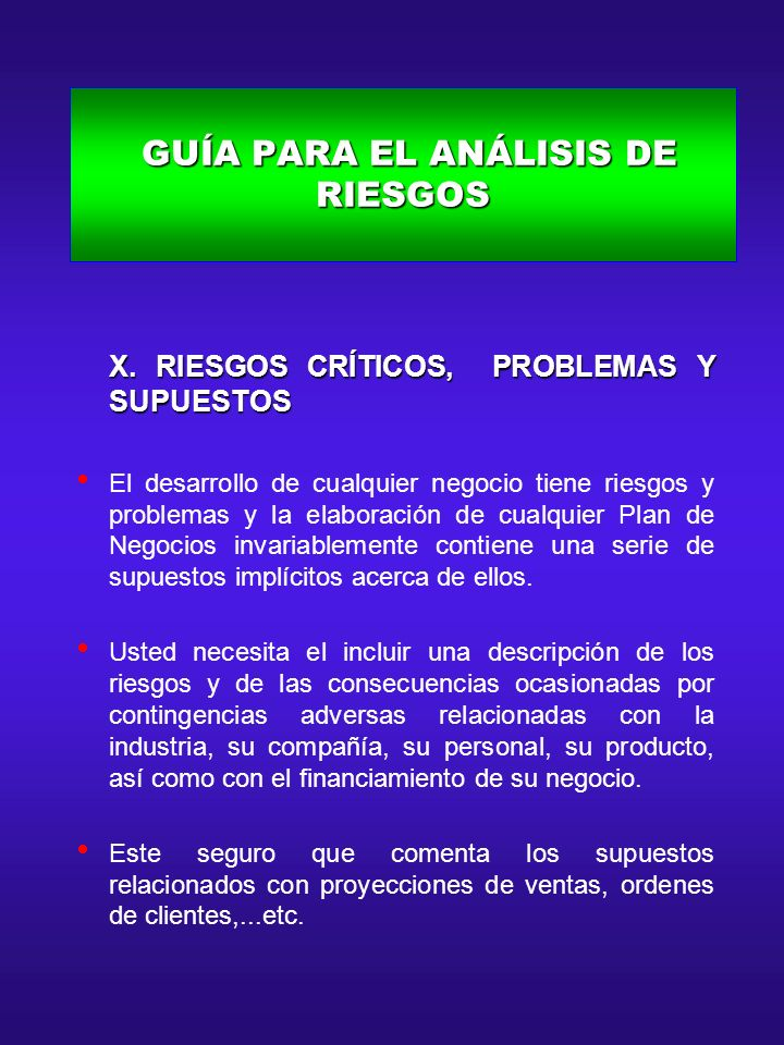 GUÍA PARA EL ANÁLISIS DE RIESGOS