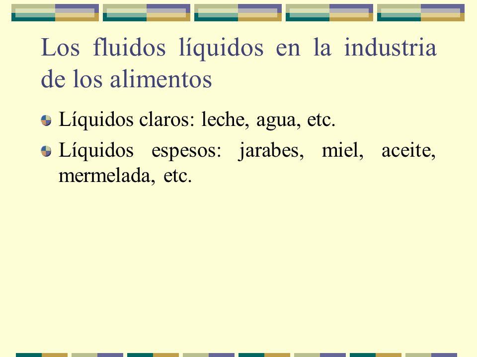Los fluidos líquidos en la industria de los alimentos