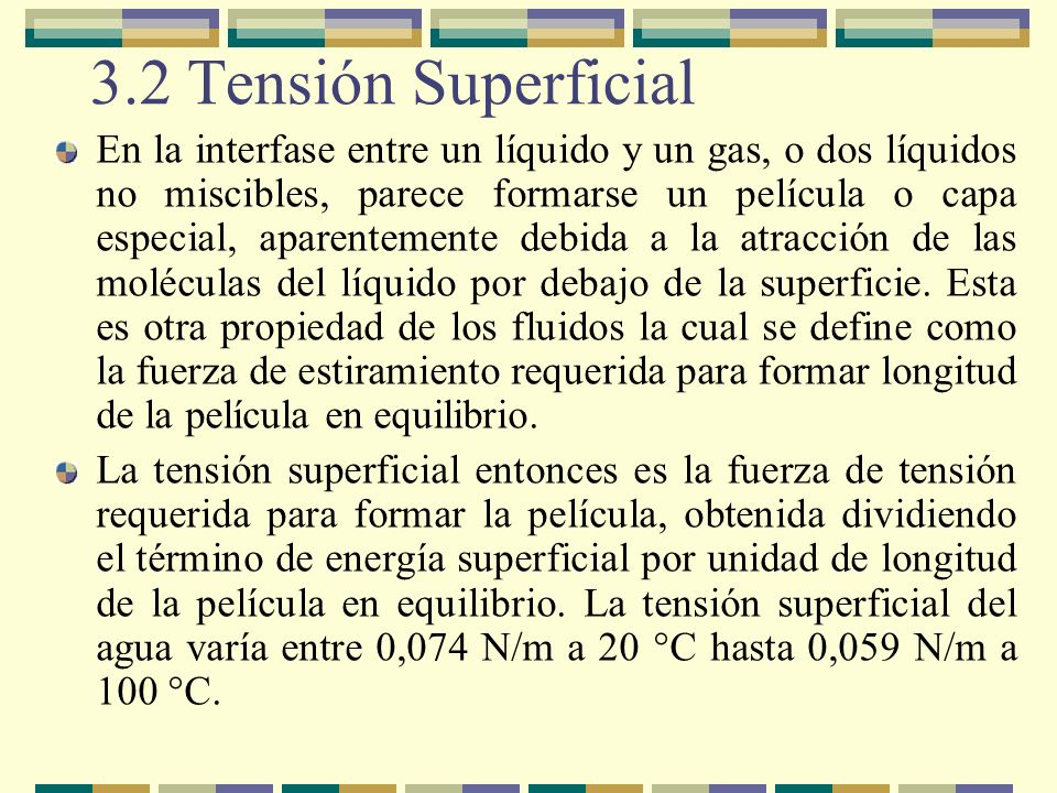 3.2 Tensión Superficial