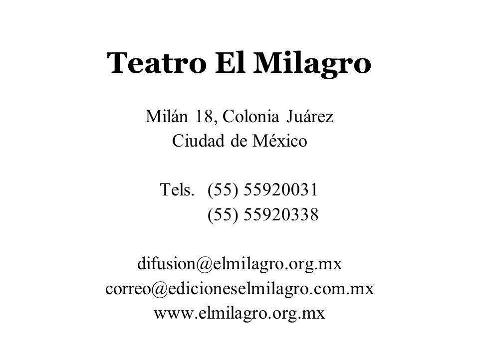 Teatro El Milagro Milán 18, Colonia Juárez Ciudad de México