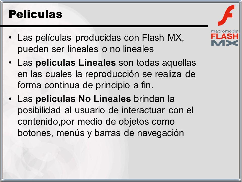 Peliculas Las películas producidas con Flash MX, pueden ser lineales o no lineales.